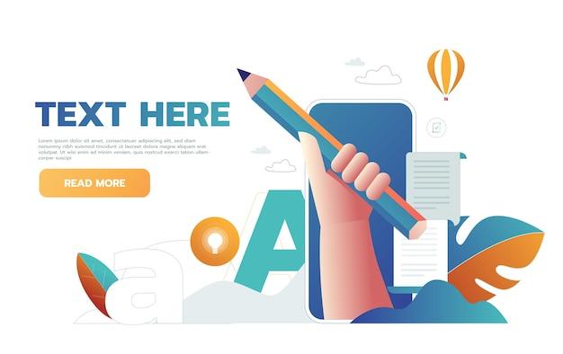 Scrivere curriculum aziendale sul lavoro. Vettore gratuito