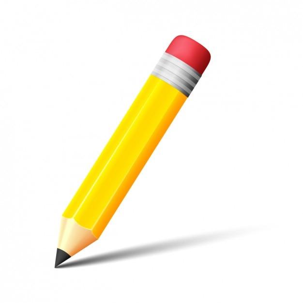 Writting дизайн карандаш Бесплатные векторы