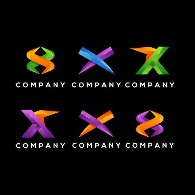 X initial logo Premium Vector