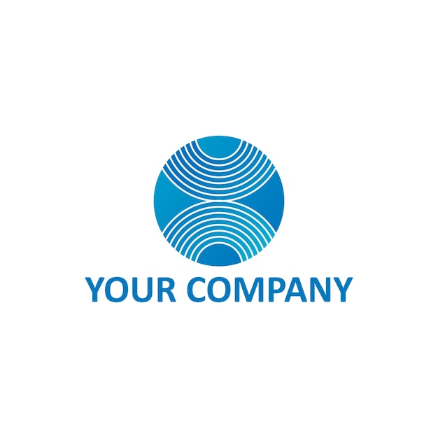 X Letter Stripe On Sphere Ball Or Circle Corporate Generic Logo - Generic company logo free