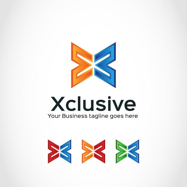 X logo design Vettore gratuito