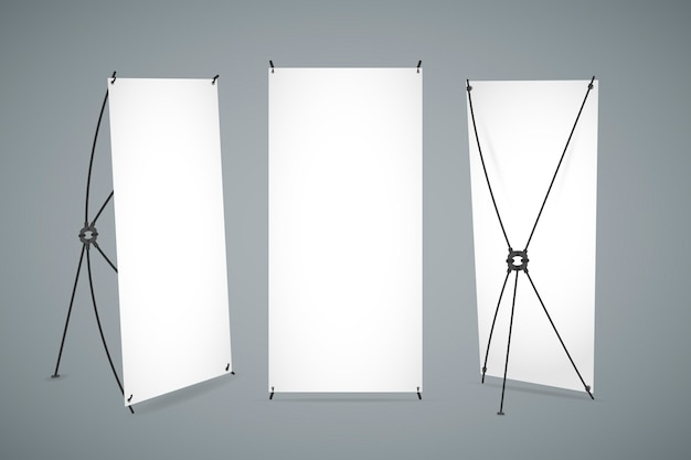 X stand banners set Free Vector