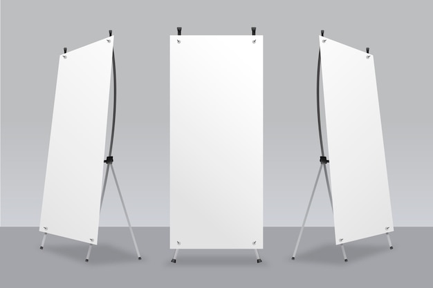 X stand banners template Free Vector