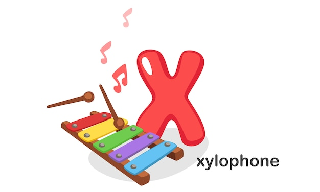 X for xylophone Premium Vector