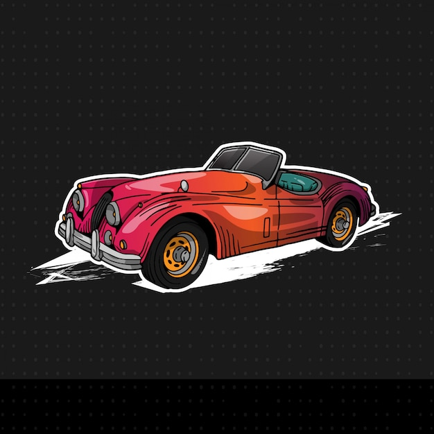 ジャガーxk140 1957 Premiumベクター