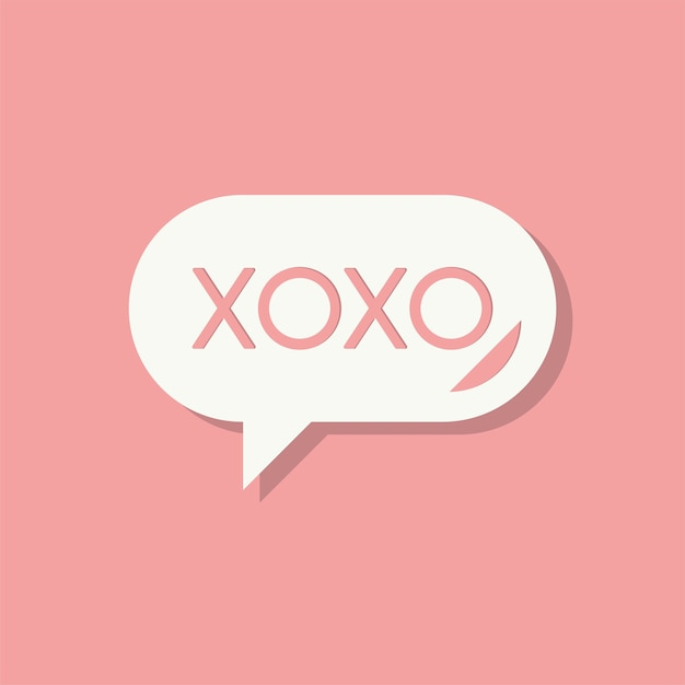 Xoxo Message Valentines Day Icon Vector Free Download