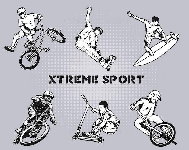 Xtreme sport pack Premium Vector