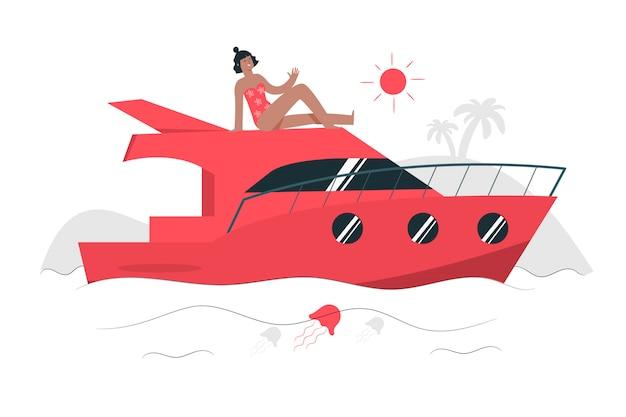 Иллюстрация концепции yatch Бесплатные векторы