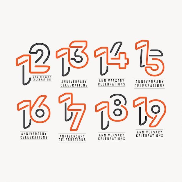 Годовщина празднование шаблон дизайн иллюстрация Premium векторы