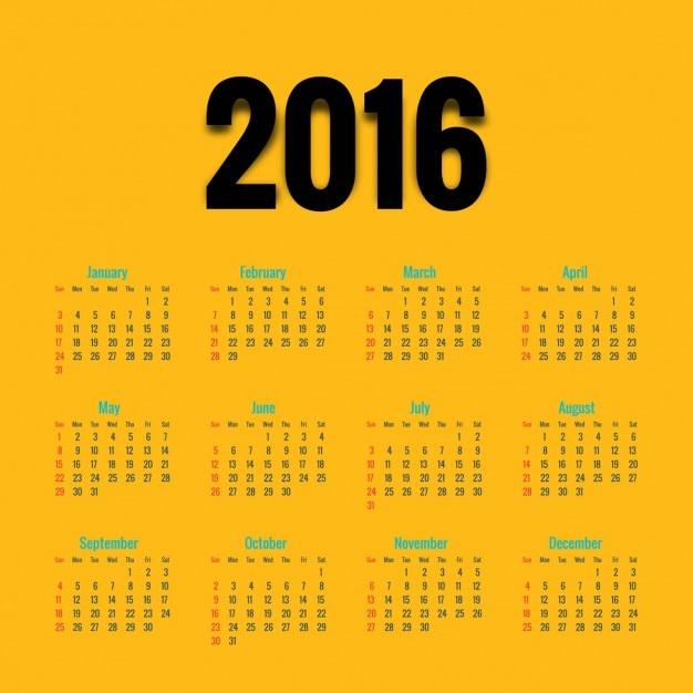 Calendar Design Freepik : Yellow calendar design vector free download