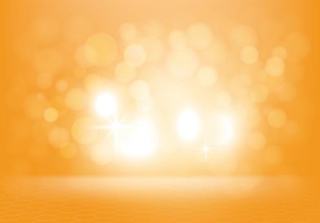 Sfondo astratto giallo con lampi Vettore gratuito