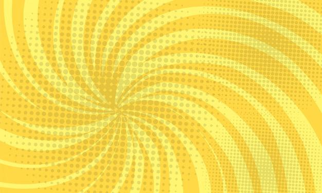 Yellow abstract comic pop background Premium Vector