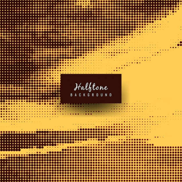 Yellow and black abstract halftone background