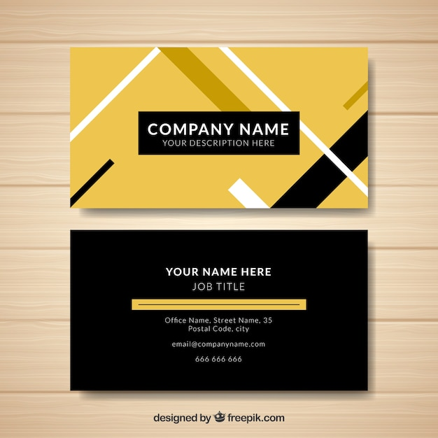 Free business cards including postage images card design and card yellow and black business card design vector free download yellow and black business card design free reheart Image collections