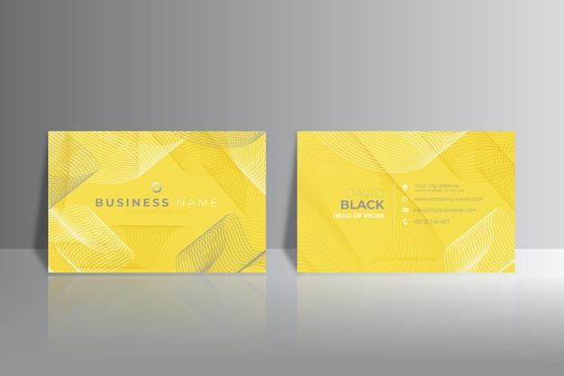 黄色と灰色の抽象的な名刺 無料ベクター