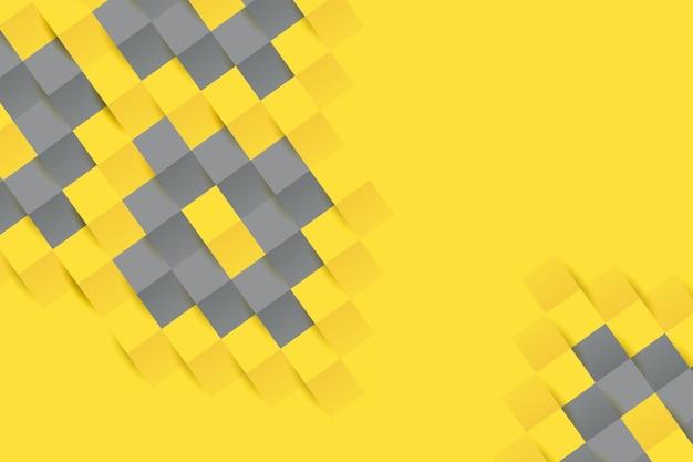 노란색과 회색 종이 스타일 배경 무료 벡터