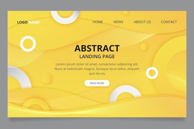黄色と灰色のランディングページテンプレート 無料ベクター