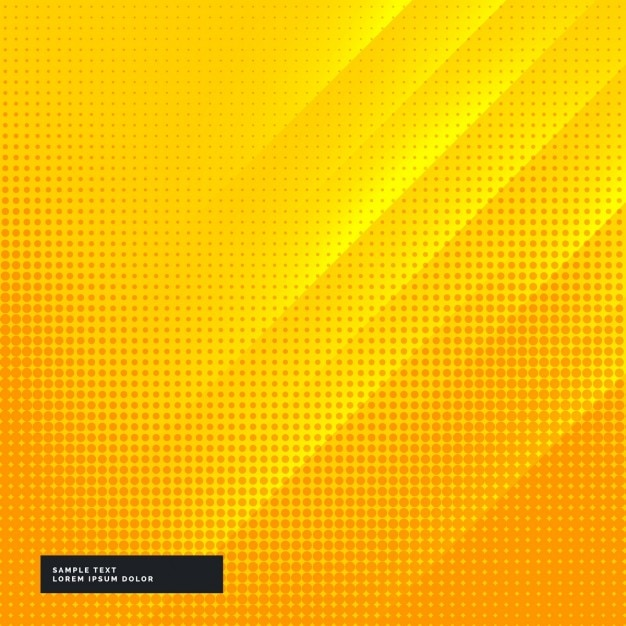 Yellow and orange background with halftone dots Free Vector