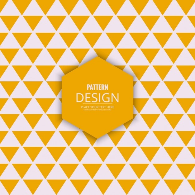Yellow and white triangles modern background