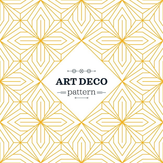 Yellow art deco pattern Vector | Free Download