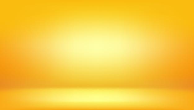 Желтый фон, абстрактные градиент студии комната Premium векторы