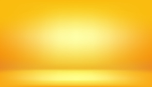 Yellow background, abstract gradient studio room Premium Vector