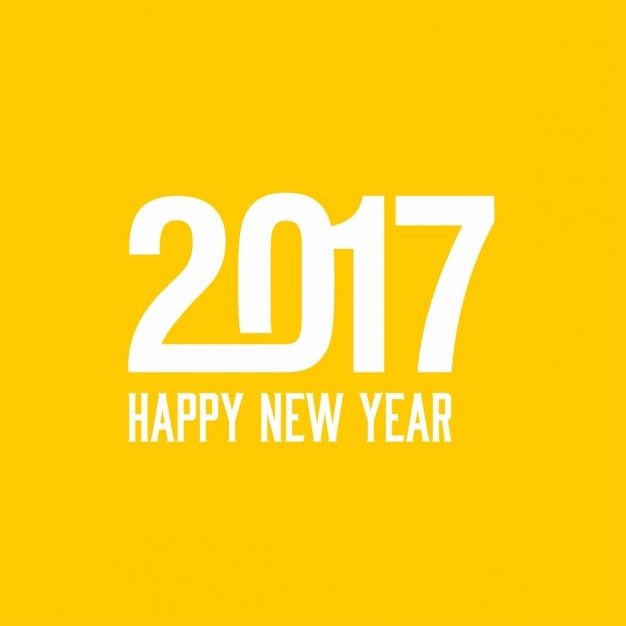 Yellow background for the new year 2017   Free Vector