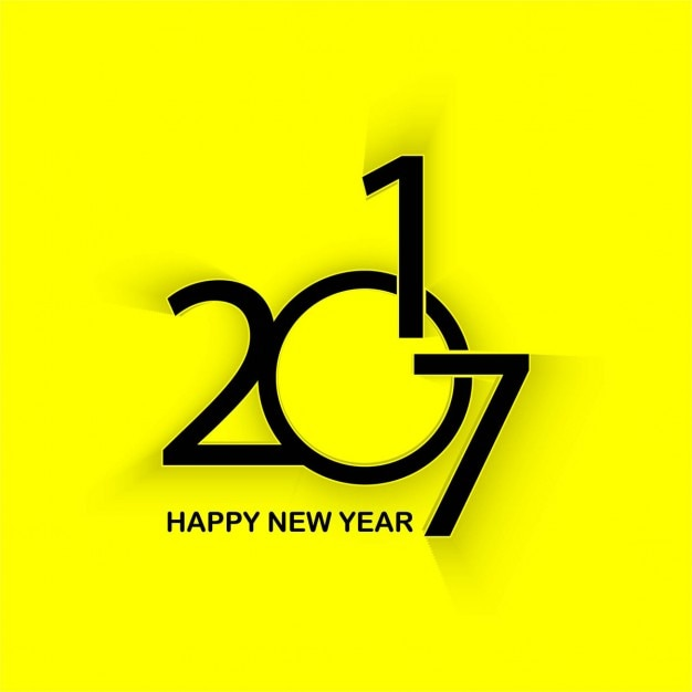 yellow background of new year 2017