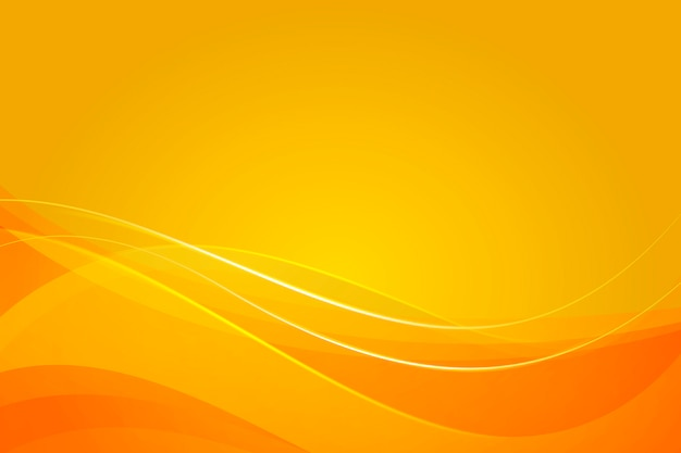 Желтый фон с динамическими абстрактными формами Бесплатные векторы