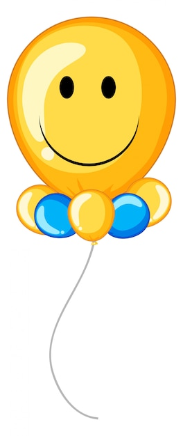 Yellow balloon with happy face vector free download yellow balloon with happy face free vector voltagebd Image collections
