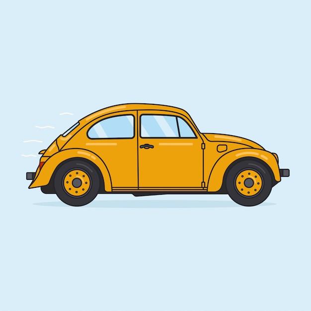 Yellow beetle Premium Vector