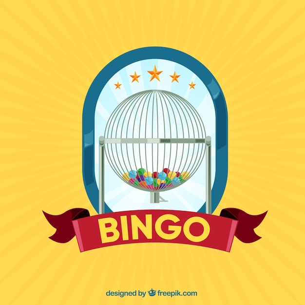 Yellow bingo background Free Vector