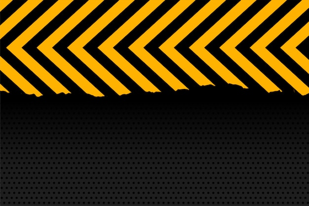 Yellow and black arrow stripes background Free Vector