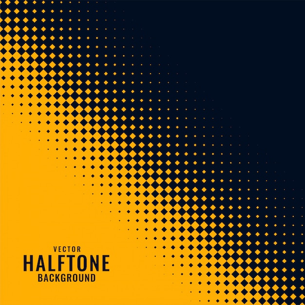Yellow and black haltone pattern design Free Vector