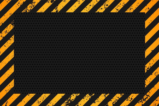 Yellow and black stripes empty background design Free Vector