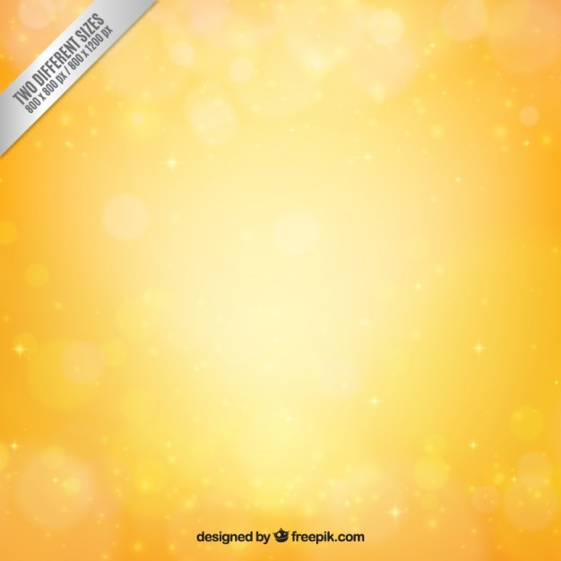 Yellow bokeh background in bright style Free Vector