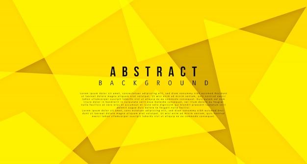 Yellow bright geomtric shape background Premium Vector