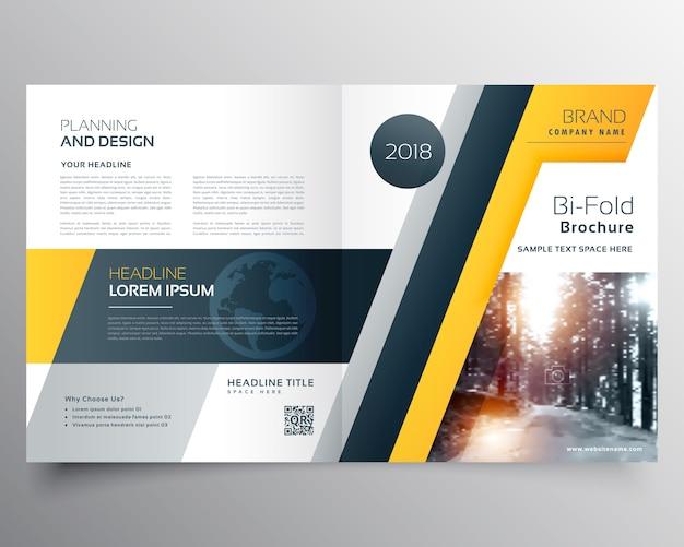 Elegante brichure affari bifold o pagina di copertina della rivista modello di progettazione in formato vettoriale Vettore gratuito
