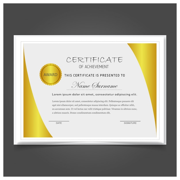 Yellow certificate template vector free download yellow certificate template free vector yadclub Gallery