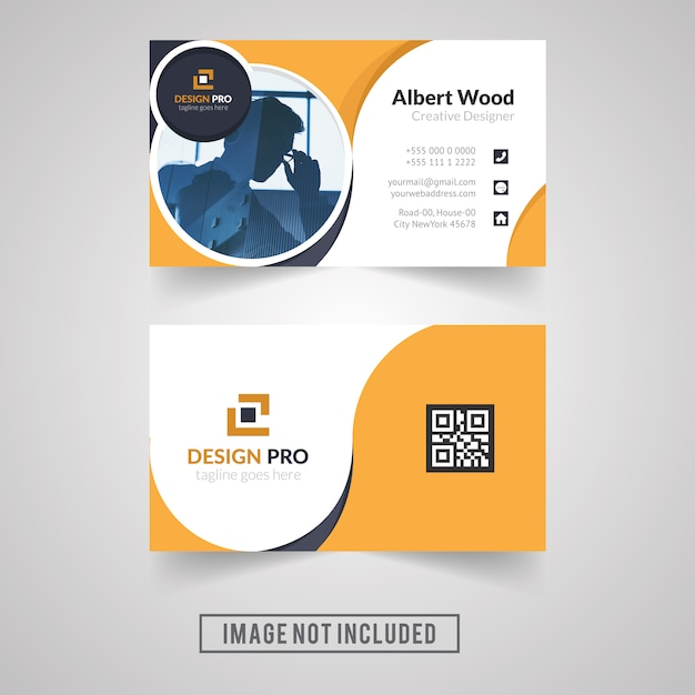 Yellow color personal business card design vector premium download yellow color personal business card design premium vector colourmoves