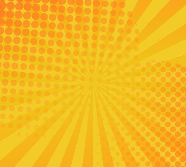 Yellow comic book background Premium Vector