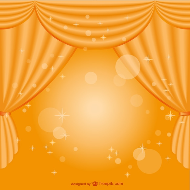 Yellow Curtain Background Free Vector