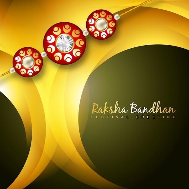 Yellow design for raksha bandhan Premium Vector