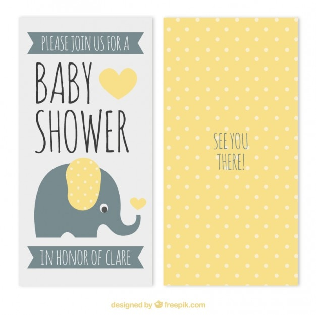 Yellow dots baby shower card