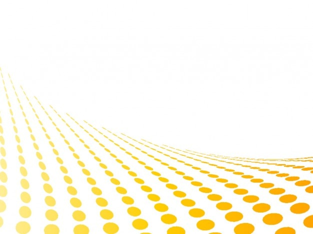 Yellow dots perspective in abstract white background Free Vector