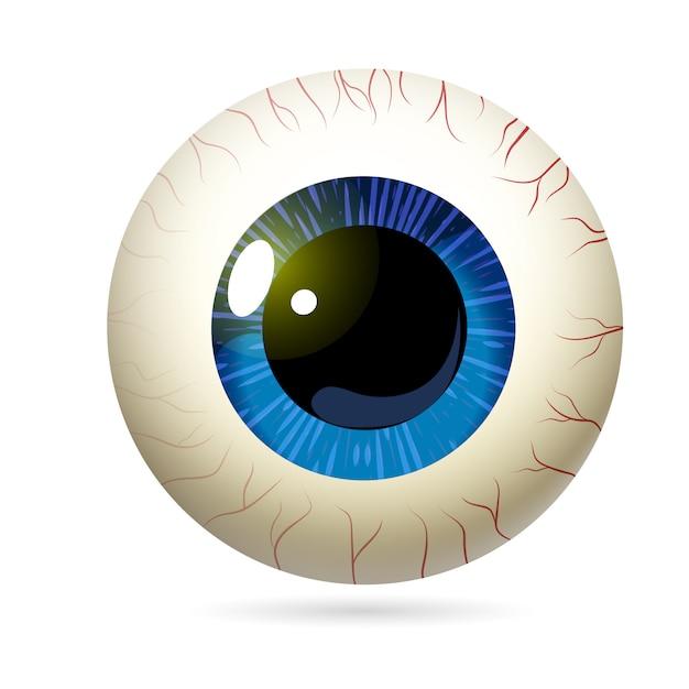 Yellow eyeball realistic Premium Vector