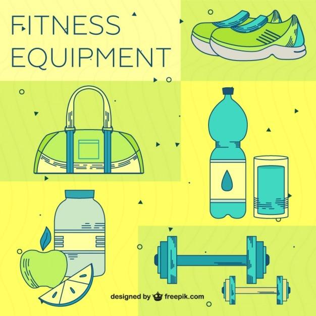 Yellow fitness equipment pack