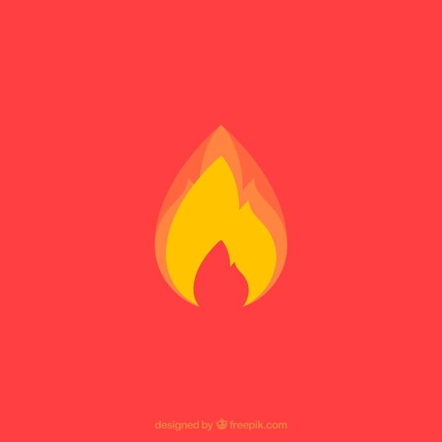 yellow flame on red background vector free download
