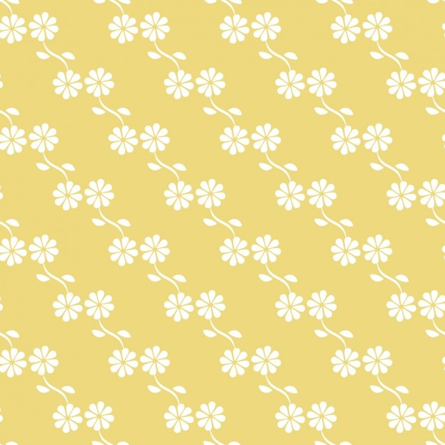 Yellow floral pattern design