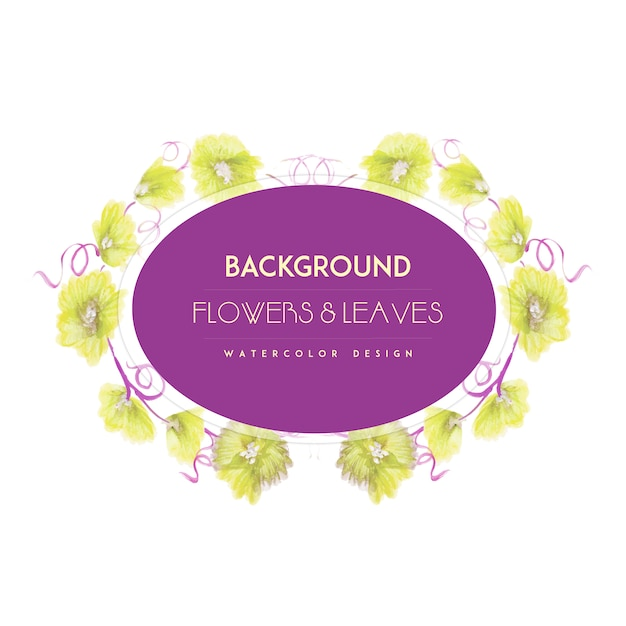Yellow flowers frame background